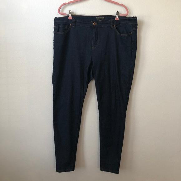 Forever 21 Denim - Forever 21+ Plus Dark Skinny Jeans 20